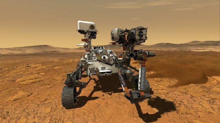 Gambar ilustrasi rover Perseverance milik NASA di planet Mars. Nasa.gov