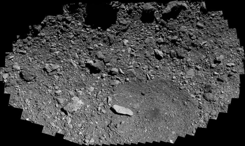Gambar permukaan asteroid Bennu.