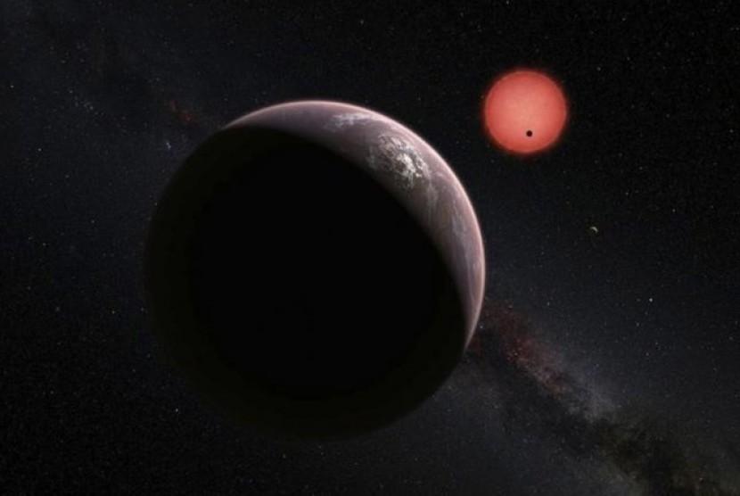 Astronom mendeteksi eksoplanet termuda. ilustrasi