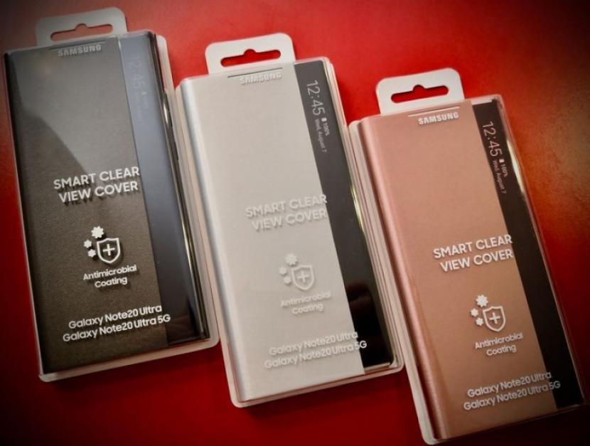 Samsung akan menawarkan flip cover case yang memiliki lapisan antimikroba untuk Galaxy Note20 Ultra 5G.
