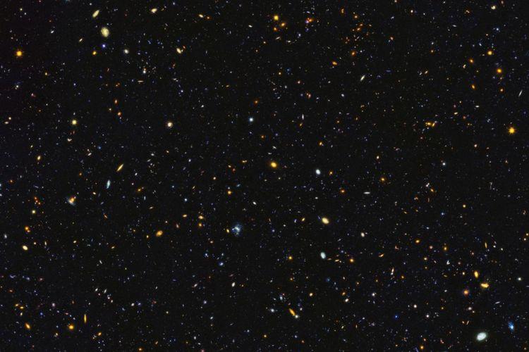 Teleskop Luar Angkasa Hubble NASA telah menangkap salah satu pemandangan terbesar kelahiran bintang dan galaksi di alam semesta miliaran tahun lalu