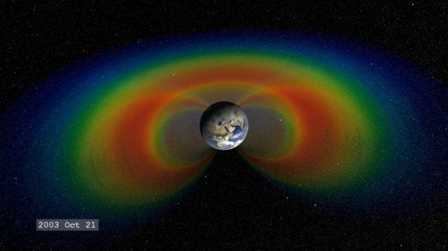 Medan magnet bumi. [NASA]