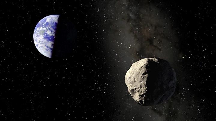 Ilustrasi asteroid di dekat bumi. spaceflightinsider.com