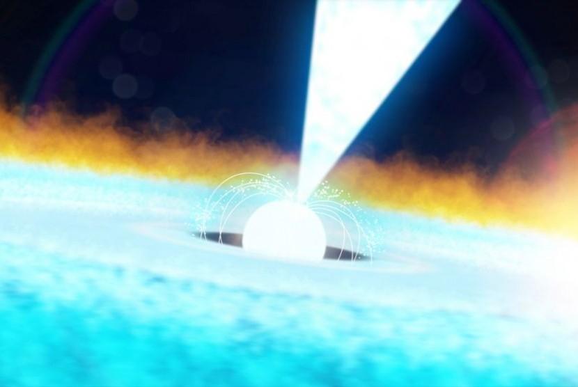 Ilustrasi bintang neutron.